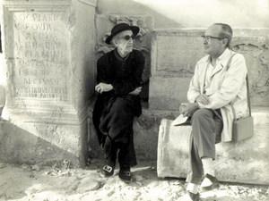 Isidor Macabich i Llobet amb l´investigador Antoni Costa Ramon. Josep M. Subirà.
