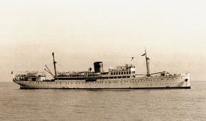 El vaixell <em>Mallorca</em> de la companyia Trasmediterránea, el quart que ha portat aquest mateix nom. Extret de <em>Todo avante</em> / Compañía Trasmediterránea.