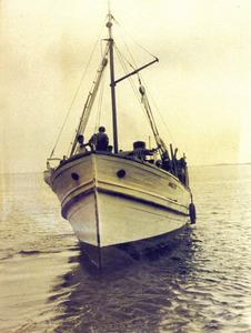 El vaixell <em>Manolito</em>, que es va perdre en aigües de s´Espalmador el març de 1960. Foto: arxiu de Vicent Ferrer Mayans.