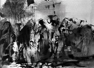 Dibuix d´Antoni Marí Ribas, que ha deixat una obra de més de 10.000 dibuixos, amb un ampli catàleg de paisatges i costums de la vida quotidiana eivissenca.