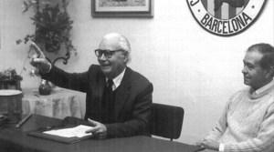 El mestre d´escola i poeta Antoni Marí Torres, durant un acte a la Casa d´Eivissa i Formentera a Barcelona. Foto: extret del <em>Butlletí Oficial de la Casa d´Eivissa i Formentera a Catalunya.</em>
