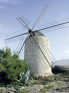 El molí d´en Mateu, a sa Mirada (Formentera). Foto: Agustí Yern Ribas / Marià Castelló Martínez.