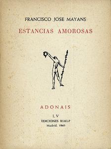 Portada del llibre de poemes de Francesc Josep Mayans Jofre.