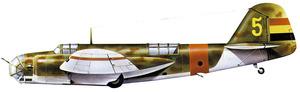 Un bombarder Tupolev SB-2 Katiuska, model amb el qual Leocadio Mendiola Núñez assegura que bombardejà el cuirassat <em>Deutschland</em> ancorat a l´avantport d´Eivissa.