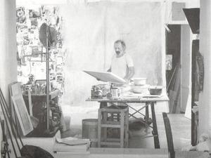 Eduard Micus al seu estudi de Jesús.