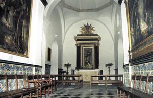 Capella de la Puríssima de l´església del convent, temple on fou soterrat el governador Francesc de Miquel. Foto: Felip Cirer Costa.