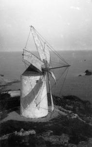 Una altra imatge històrica del pujol des Molins. Foto: Viñets / Arxiu Històric Municipal d´Eivissa.