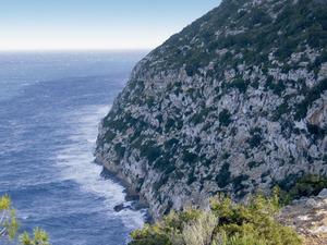 La punta de la Fernanda, a la costa NO de la vénda des Monestir. Foto: Vicent Ferrer Mayans.