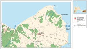 Mapa de la vénda des Monestir (Formentera). Elaboració: Vicent Ferrer Mayans / José F. Soriano Segura / Antoni Ferrer Torres.