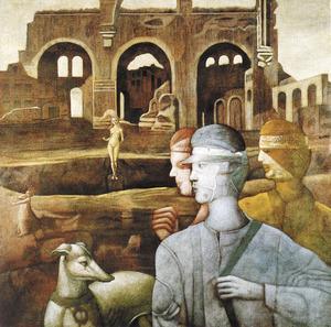 Andrés Monreal: <em>The last memories</em>, oli sobre tela 150 x 150 cm.