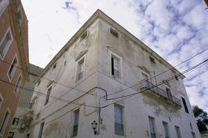Can Montero, façana que dóna al carrer de Pere Tur. Foto: Joan Antoni Riera.