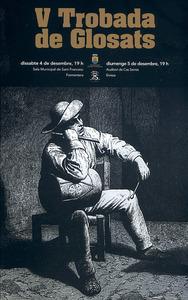 Cartell anunciador de la V Mostra de glosats d´Eivissa i Formentera.