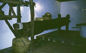 Museu d´Etnografia d´Eivissa. El trull, amb els seus elements, que es recuperaren d´una antiga casa de Sant Miquel de Balansat. Foto: Rafa Domínguez.