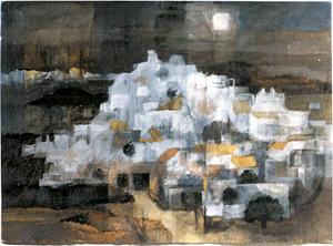 <em>Sense títol</em>, 1998, 35 x 46,5 cm., obra de la pintora anglesa Sarah Nechamkin.