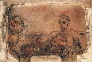 Egon Neubauer, <em>Sense títol</em>, 1968, aquarel·la i ploma sobre paper, 18 x 26 cm. Extret de <em>Grupo Ibiza 59 - passat i present</em>.