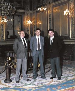 Joan Antoni Noguera Torres, a la dreta, amb els altres parlamentaris eivissencs de la mateixa legislatura, Enric Ramon Fajarnés i Enric Ribes i Marí. Foto: M. Povedano.