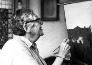 El pintor nord-americà Charles Orloff. Extret d´<em>Eivissa, anys 60. El naixement de Babel.</em>