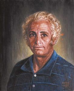 Retrat realitzat per Purificació Ortí Pastor d´un personatge conegut amb el nom de Pep de Mallorca.