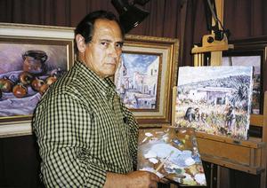 El pintor Joan Orvay Orvay, d´estil figuratiu impressionista. Foto: Sonya Torres Planells.