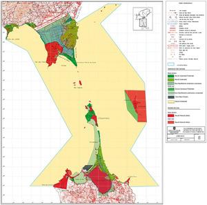Mapa del Parc Natural de ses Salines d´Eivissa i Formentera.
