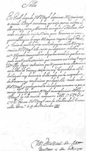 Document del governador Josep Pardo (1677-1781).