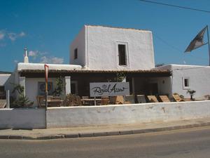 La casa de can Parra, dibuixada per l´arxiduc Lluís Salvador amb el títol d´alqueria de ses Salines. Foto: Felip Cirer Costa.