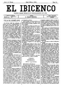 <em>El Ibicenco</em>, periòdic que es publicà, en la segona època, 1890, com a òrgan del Partit Liberal.