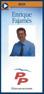 Cartell electoral del Partit Popular a l´Ajuntament d´Eivissa el 1999.