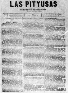<em>Las Pityusas</em>, &ograve;rgan del Partit Republic&agrave; Democr&agrave;tic Federal (PRDF), era dirigit per Joan Arab&iacute; Respeto, president del Comit&egrave; Republic&agrave; d´Eivissa.