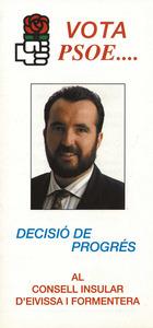 Cartell electoral del Partit Socialista Obrer Espanyol al Consell Insular el 1991.
