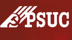 Anagrama del Partit Socialista Unificat de Catalunya (PSUC).