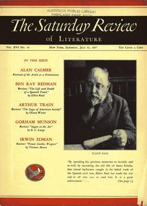 Portada de la revista <em>The Saturday Review of Literature</em> dedicada a Elliot Harold Paul.