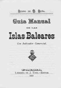 Portada de la guia de les illes Balears feta per Pere d´Alcàntara Peña Nicolau.