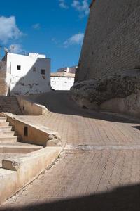 El carrer de sa Pedrera, amb el racó de sa Murada, al barri de sa Penya (Eivissa). Foto: Felip Cirer Costa.