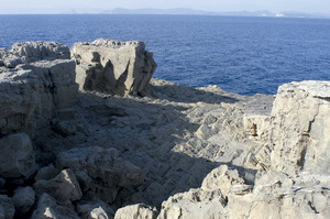 Sa Pedrera. Antiga pedrera de la zona de ponent de l´estany des Peix (Formentera).