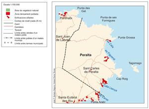 Mapa de la cavalleria de Peralta.