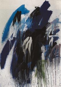 Rainer Pfnür, <em>núm. 85</em>, oli sobre tela, 250 x 170 cm. Extret de <em>Paintings - Rainer Pfnür - Nazareli</em>.