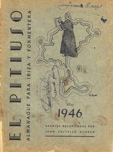 Portada d´un exemplar d´<em>El Pitiús</em> editat per Joan Castelló Guasch.