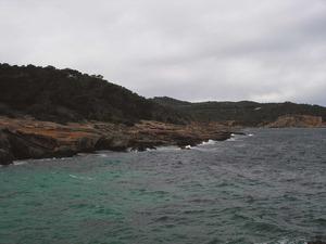 El tram de costa de la badia de Xarraca conegut com na Plana. Foto: Felip Cirer Costa.