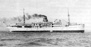 El vaixell <em>Plus Ultra</em> de la companyia Trasmediterrànea, que va cobrir les línies de les Balears.
