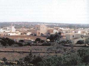 El nom de Poble de Formentera es donava al petit conjunt de cases agrupades al voltant de sa Tanca Vella. Foto: Joan Marí Cardona.