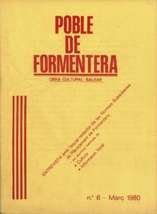 Portada de la publicació mensual Poble de Formentera.