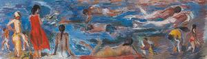 <em>Sense t&iacute;tol</em>, 1995, oli damunt tela, 90 x 230 cm, obra del pintor Antoni Pomar Juan.