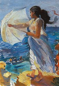 Una obra d´Antoni Pomar Juan: <em>Sense t&iacute;tol</em>, 1995, oli damunt tela, 116 x 81 cm.