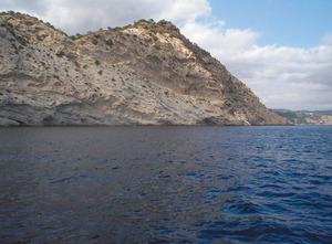 El tram de costa conegut com sa Popa des Barco, al poble des Cubells. Foto: Felip Cirer Costa.