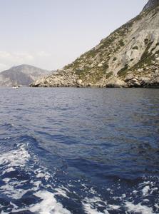 Es Porxos, tram de la costa des Vedrà situat a la zona des Matar. Foto: Felip Cirer Costa.