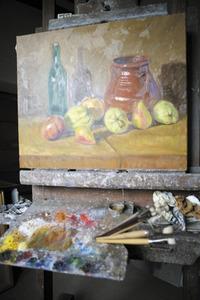 Un bodegó d´Antoni Prats Calbet, gènere pictòric que ha treballat molt al llarg de la seua trajectòria. Foto: Vicent Marí.