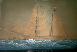 El bergantí goleta <em>Enrique</em>, amb el qual el capità Bartomeu Prats i Garcia va fer comerç d´altura i de cabotatge. Foto: Vicent Marí.