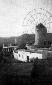 Es Puig des Molins. Molí amb les antenes encara preparades per moldre.