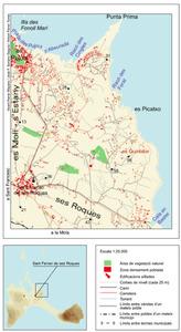 Mapa de la vénda de sa Punta, del poble de Sant Ferran de ses Roques. Elaboració: Vicent Ferrer Mayans / José F. Soriano Segura / Antoni Ferrer Torres.